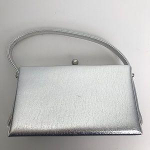 Vintage Silver Mini Evening Bag Wristlet